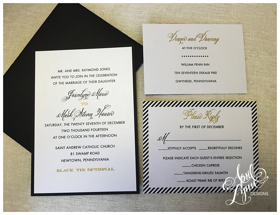 5 Ways To Use Gold on Your Custom Wedding Stationery | April Lynn ...