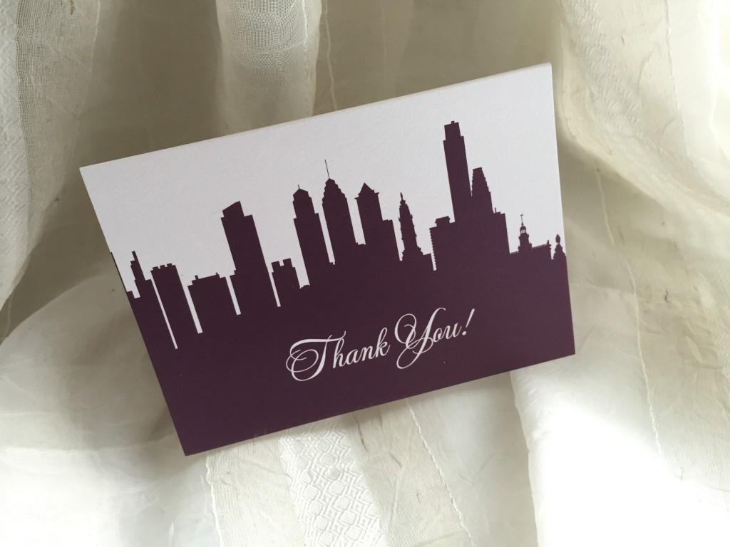 Custom Wedding Stationery | Custom Thank You Card by April Lynn Designs