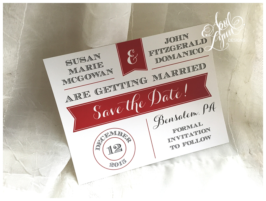 Postcard Save the Date by April Lynn Designs