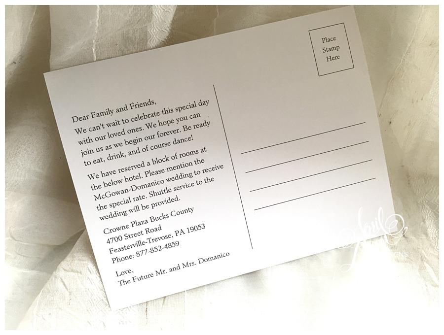 Postcard Save the Date by April Lynn Designs