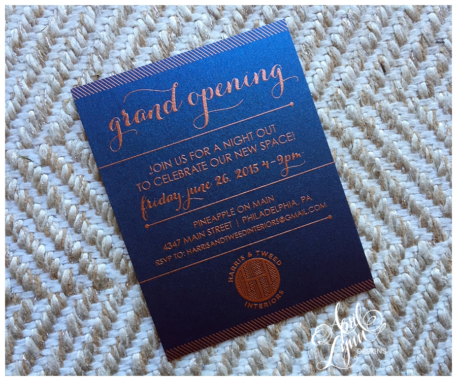 Grand Opening Invitation by April Lynn Designs