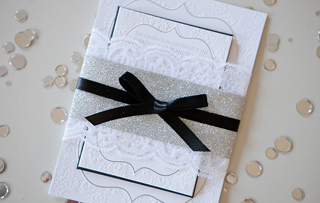 april_lynn_designs_silver_foil_letterpress_glitter_wedding_invitation_suite_cescaphe_ballroom_philadelphia