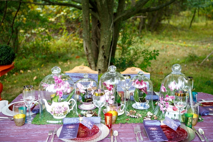 Alice in Wonderland Styled Shoot Tablescape | Menus by April Lynn Designs