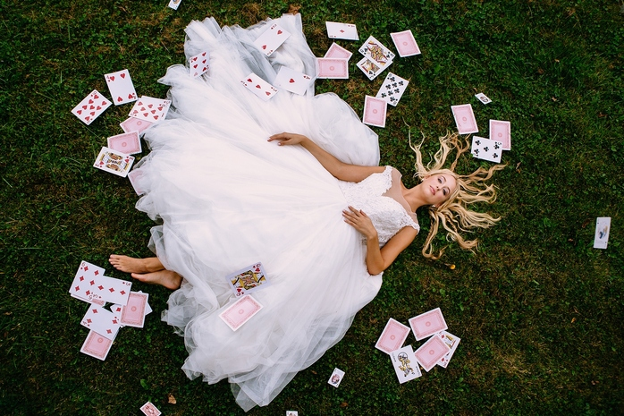 Alice in Wonderland Styled Shoot Playing Card Portrait
