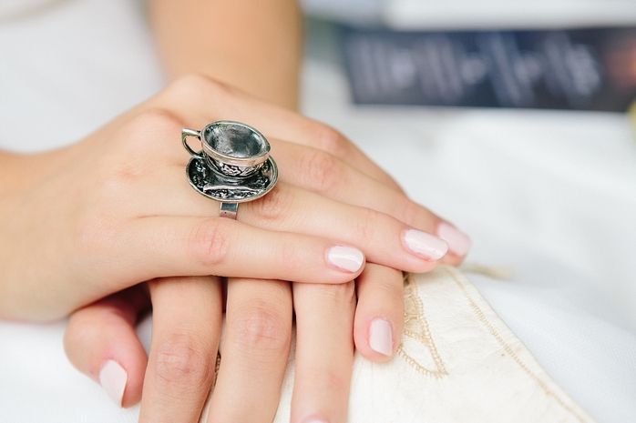 Alice in Wonderland Styled Shoot Teacup Ring