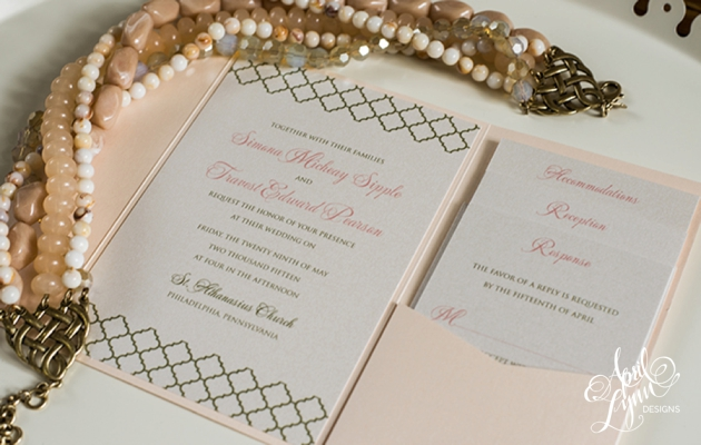 April_Lynn_Designs_Blush_Gold_Pocketfold_Wedding_Invitation_Crystal_Tea_Room_Philadelphia_Pennsylvania