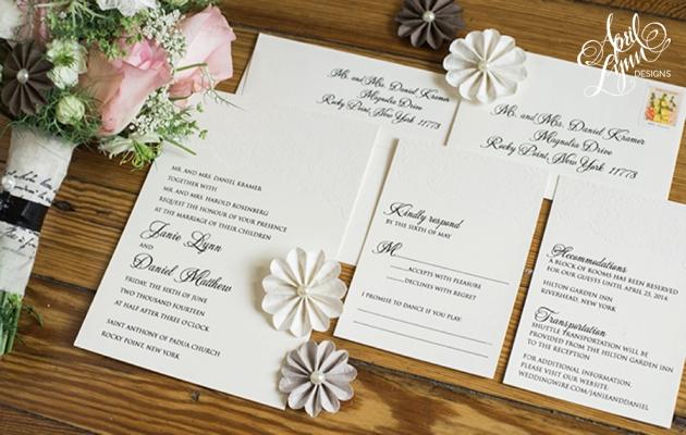 april lynn designs // custom stationery  design studio, Wedding invitations