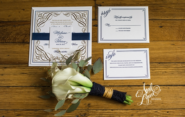 April_Lynn_Designs_Gold_Foil_Letterpress_Wedding_Invitation_Charleston_South_Carolina_Governor_Thomas_Bennett_House_Southern_Wedding_Invitation