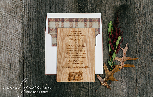 April_Lynn_Designs_Wooden_Wedding_Invitation_Ash_Mill_Farm_Bucks_County_Emily_Wren_Photography
