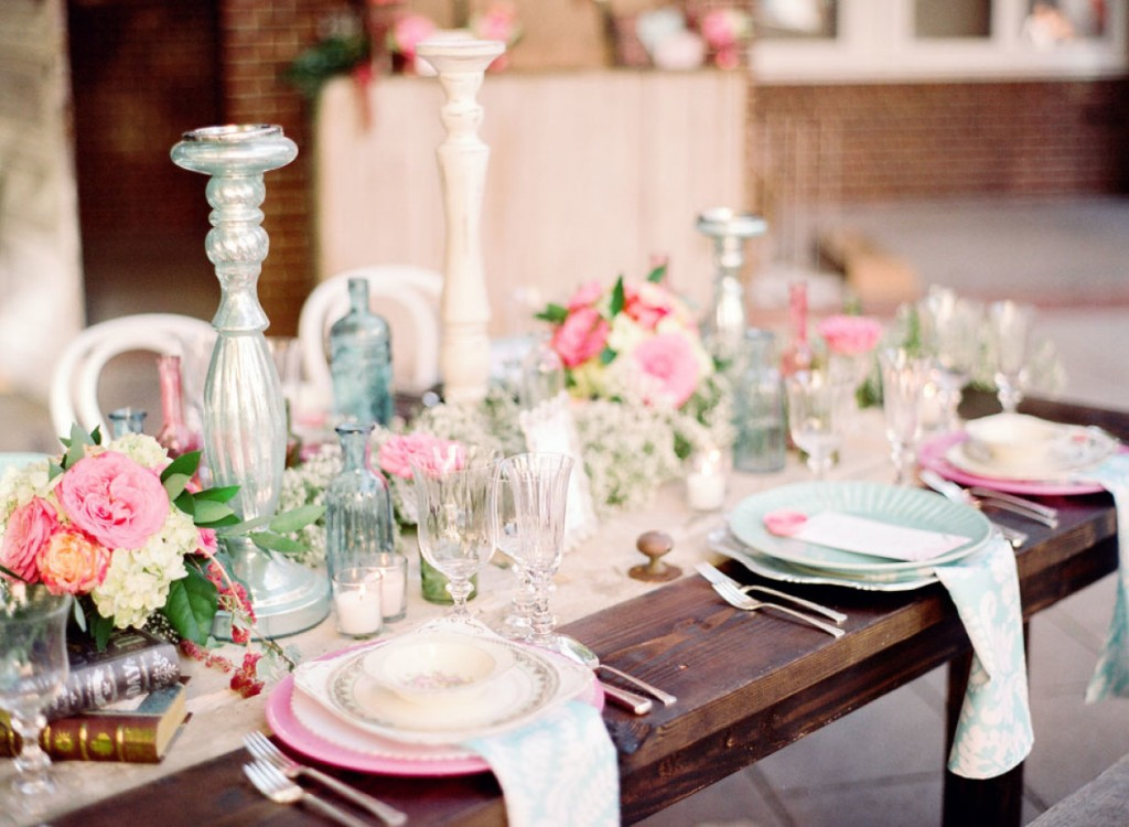 Shabby Chic Styled Shoot Table Setting