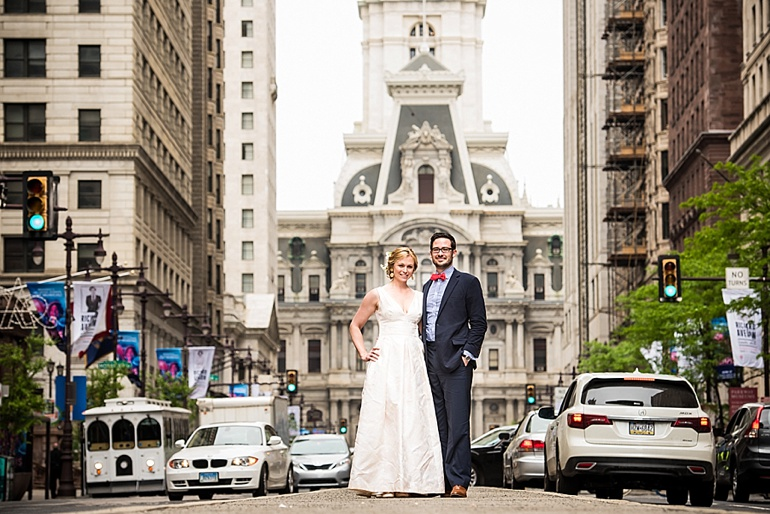 Philadelphia City Hall Couple's Portrait