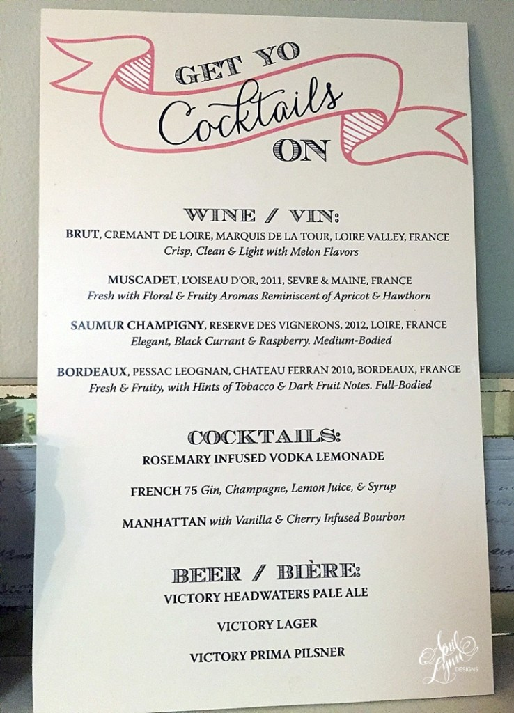 Strawberry Ice Cocktail Menu Sign by April Lynn Designs