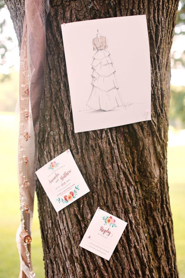 kay english, details of i do, style me pretty, vinterest props, wedding invitation by april lynn designs