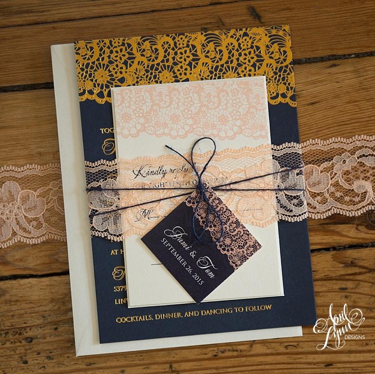 Jami Toms Rustic Lace Wedding Invitation Suite April Lynn
