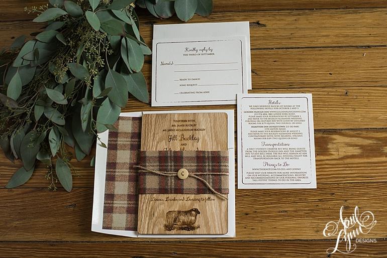 April_Lynn_Designs_Jill_John_Ash_Mill_Farm_New_Hope_Rustic_Farm_Wood_Wedding_Invitation1