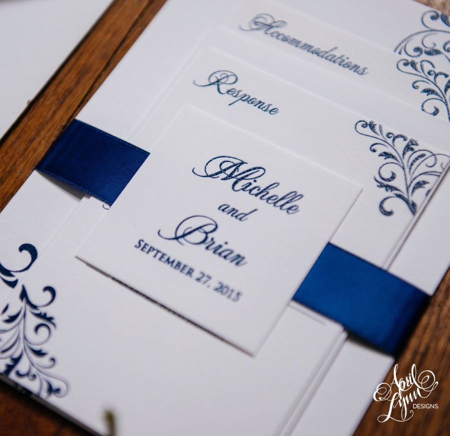 Michelle Brians Flourish Wedding Invitation Suite April Lynn