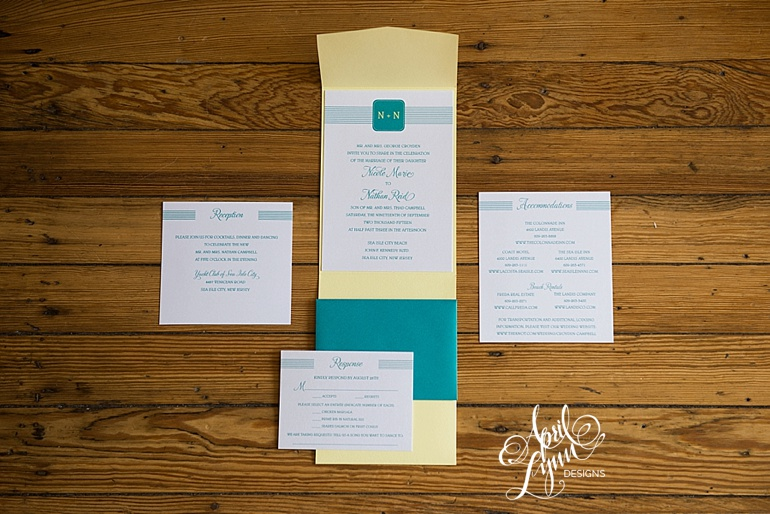 sea isle city destination wedding invitation