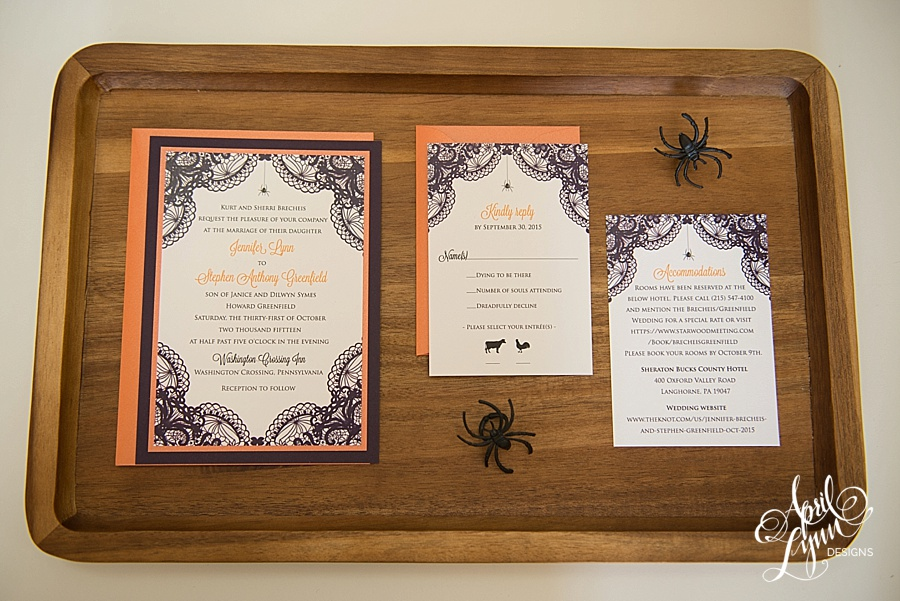 Jennifer Stephens Elegant Halloween Wedding Invitation Suite – Elegant Halloween Wedding Invitations