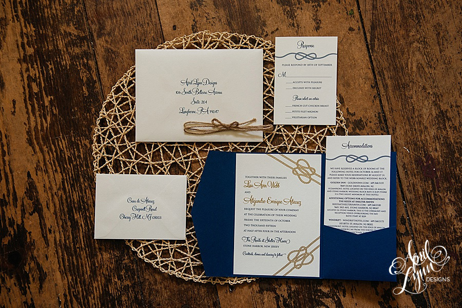 Nautical Wedding Invitation by April Lynn Designs