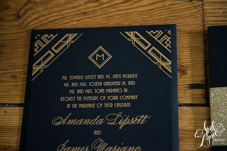 April_Lynn_Designs_Amanda_James_Ballroom_at_the_Ben_Philadelphia_Gold_Foil_Art_Deco_Gatsby_Wedding_Invitation3