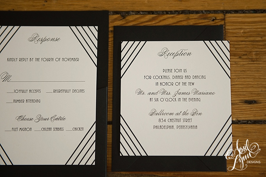 April_Lynn_Designs_Amanda_James_Ballroom_at_the_Ben_Philadelphia_Gold_Foil_Art_Deco_Gatsby_Wedding_Invitation8