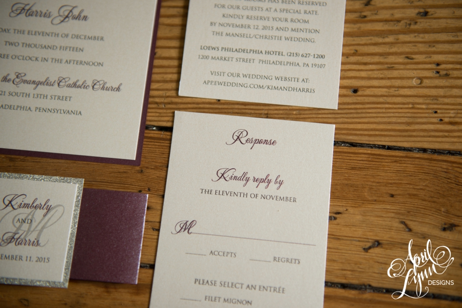 Kimberly + Harris\'s Elegant Wedding Invitation Suite | April Lynn ...