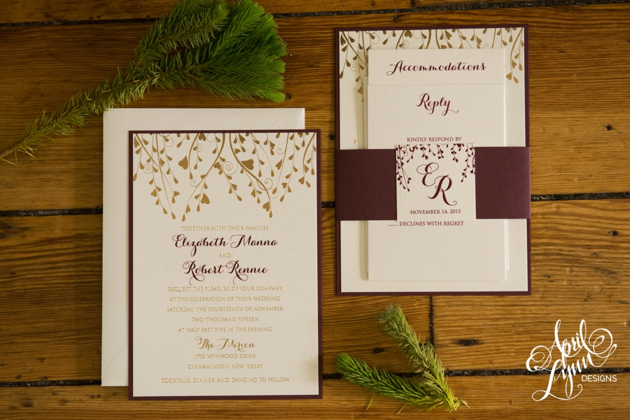 Liz robs gold foil fall wedding invitation suite april lynn liz robs gold foil fall wedding invitation suite junglespirit Image collections