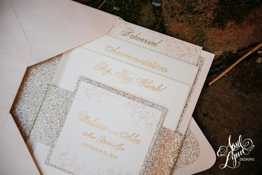 April_Lynn_Designs_Gold_Glitter_Foil_Blush_Wedding_Invitation_New_Years_Eve_Palace_at_Somerset_Park_New_Jersey4