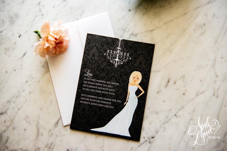 April_Lynn_Design_Bridal_Shower_Invitation_Blonde_Damask_Chandelier1