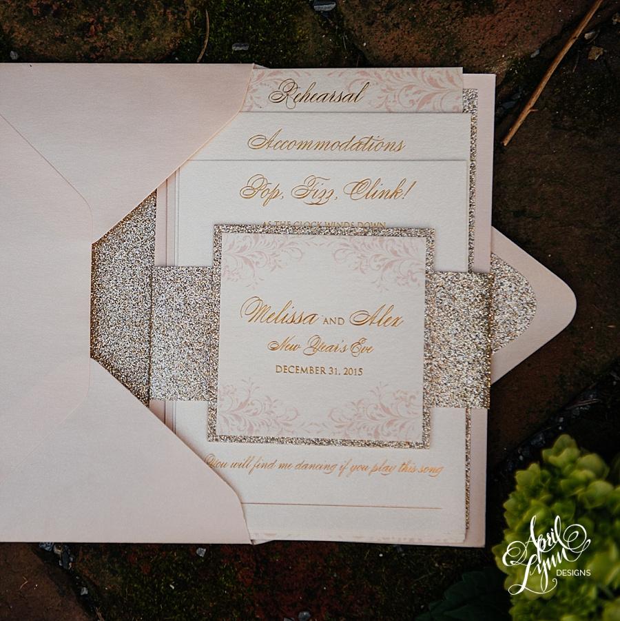 Rose Gold Glitter Wedding Invitations Wedding Invitation Ideas