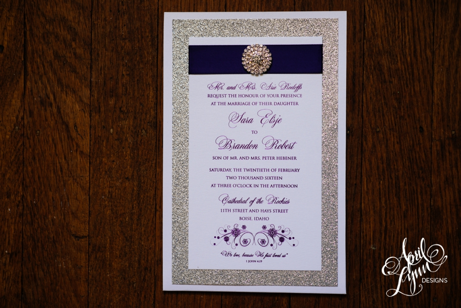 April_Lynn_Designs_Sara_Brandon_Silver_Glitter_Purple_Foil_Bling_Luxury_Wedding_Invitation_Boise_Steuckle_Sky_Center14