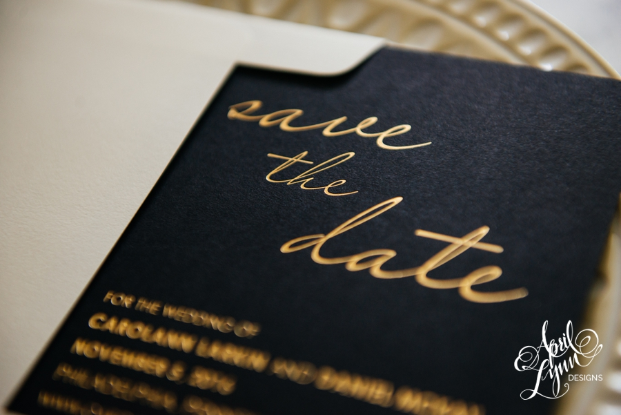 April_Lynn_Designs_Save_the_date_Gold_Foil_Black_Philadelphia_Cescaphe_4