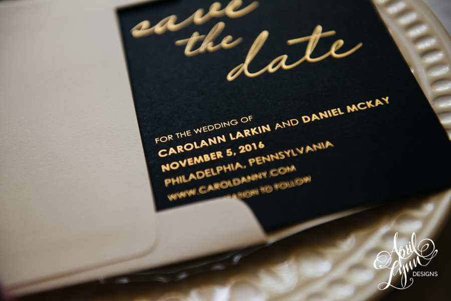 April_Lynn_Designs_Save_the_date_Gold_Foil_Black_Philadelphia_Cescaphe_5