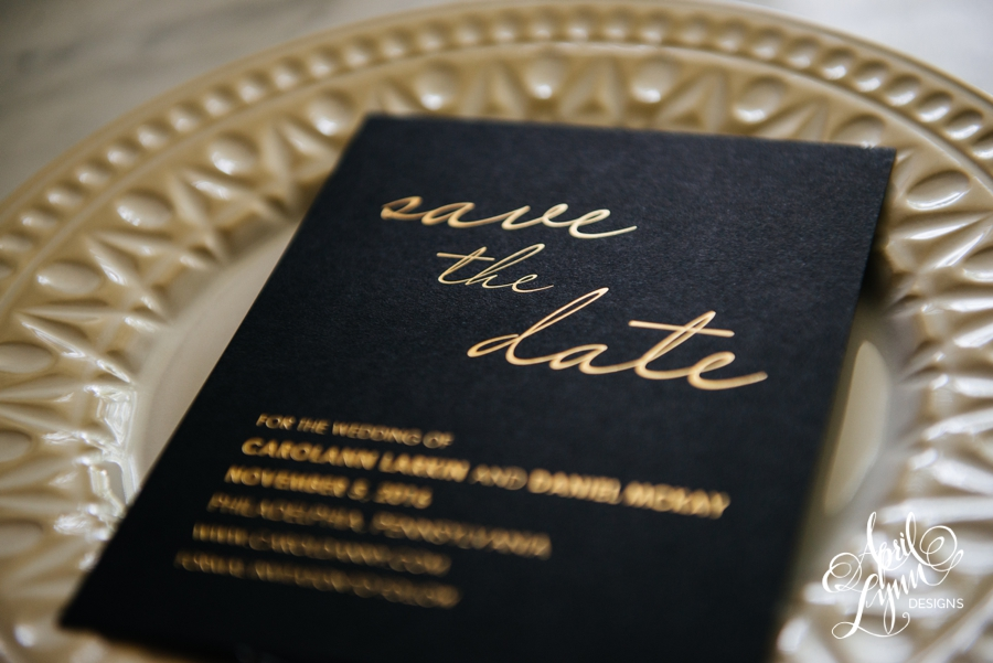 April_Lynn_Designs_Save_the_date_Gold_Foil_Black_Philadelphia_Cescaphe_6