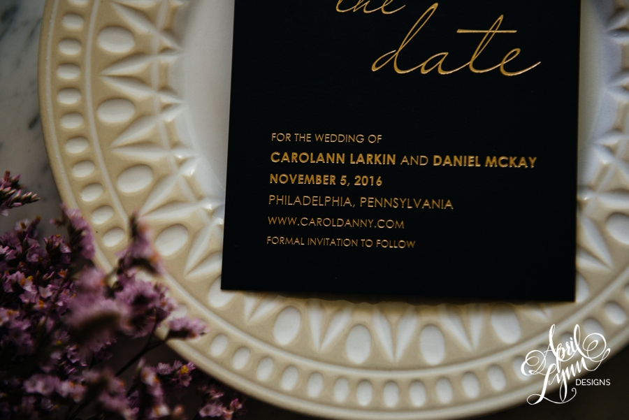 April_Lynn_Designs_Save_the_date_Gold_Foil_Black_Philadelphia_Cescaphe_7