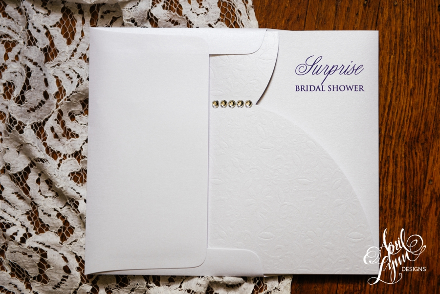 April_Lynn_Designs_Erica_Surprise_Bridal_Shower_Invitation_Lace_Crystal_Jewels_Dress1
