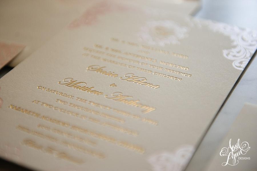 April_Lynn_Designs_Stasia_Matt_Blush_Pink_Gold_Foil_Nazareth_Academy_Cairnwood_Estate_Luxury_Wedding_Invitation_Philadelphia_Regal_Luxe11