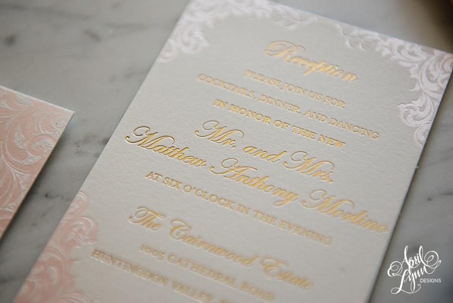 April_Lynn_Designs_Stasia_Matt_Blush_Pink_Gold_Foil_Nazareth_Academy_Cairnwood_Estate_Luxury_Wedding_Invitation_Philadelphia_Regal_Luxe13