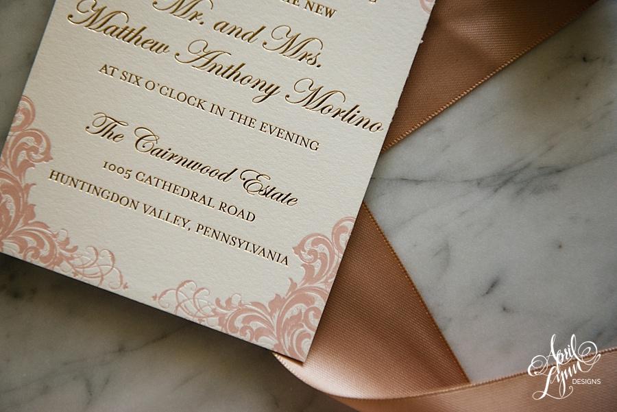 April_Lynn_Designs_Stasia_Matt_Blush_Pink_Gold_Foil_Nazareth_Academy_Cairnwood_Estate_Luxury_Wedding_Invitation_Philadelphia_Regal_Luxe15