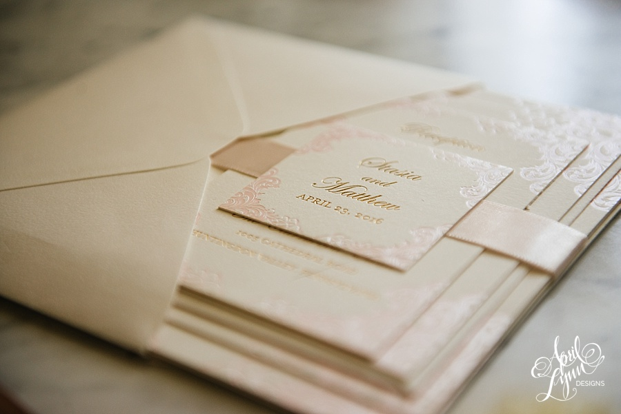 April_Lynn_Designs_Stasia_Matt_Blush_Pink_Gold_Foil_Nazareth_Academy_Cairnwood_Estate_Luxury_Wedding_Invitation_Philadelphia_Regal_Luxe4