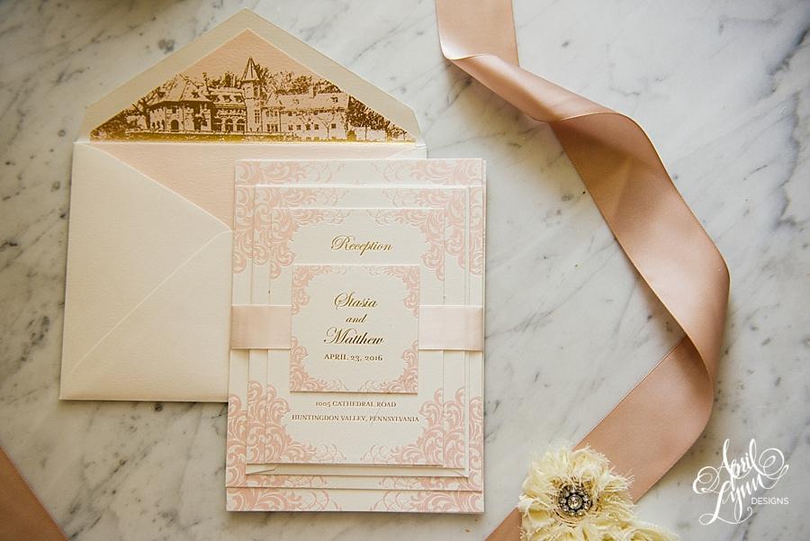 April_Lynn_Designs_Stasia_Matt_Blush_Pink_Gold_Foil_Nazareth_Academy_Cairnwood_Estate_Luxury_Wedding_Invitation_Philadelphia_Regal_Luxe5