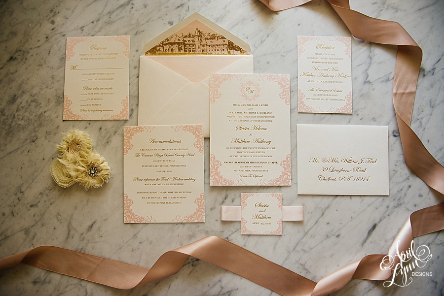 April_Lynn_Designs_Stasia_Matt_Blush_Pink_Gold_Foil_Nazareth_Academy_Cairnwood_Estate_Luxury_Wedding_Invitation_Philadelphia_Regal_Luxe6-2