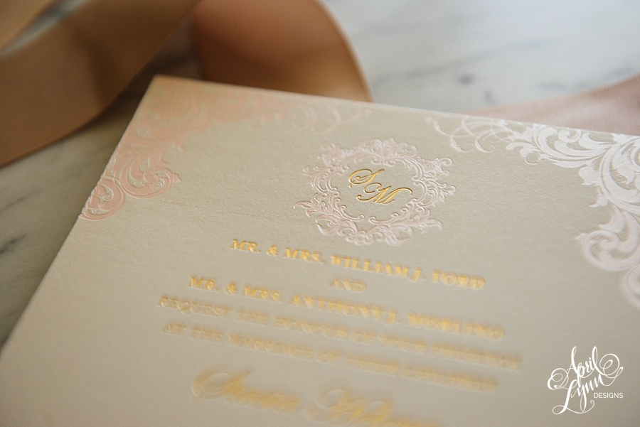 April_Lynn_Designs_Stasia_Matt_Blush_Pink_Gold_Foil_Nazareth_Academy_Cairnwood_Estate_Luxury_Wedding_Invitation_Philadelphia_Regal_Luxe9