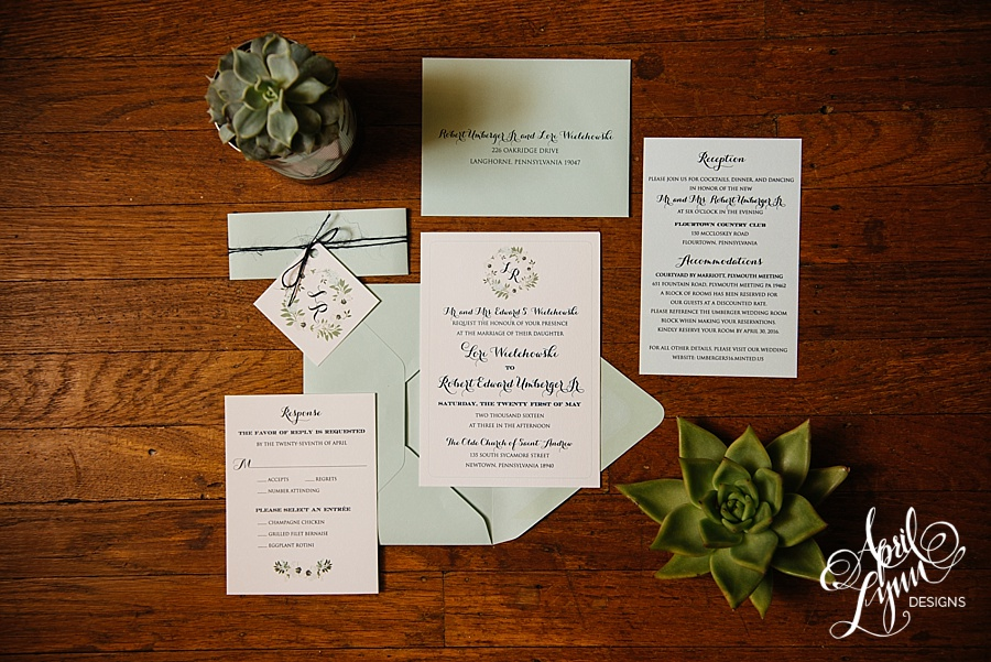Lori_Robert_April_Lynn_Designs_Flourtown_Country_Club_Spring_Wedding_May_Blue_Floral_Rustic_Wedding_invitation3