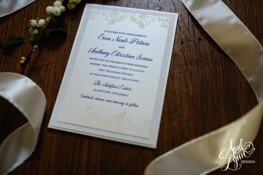 april_lynn_designs_erica_anthony_ashford_estate_wedding_allentown_new_jersey_luxe_glitter_purple_clutch_wedding_invitation_2