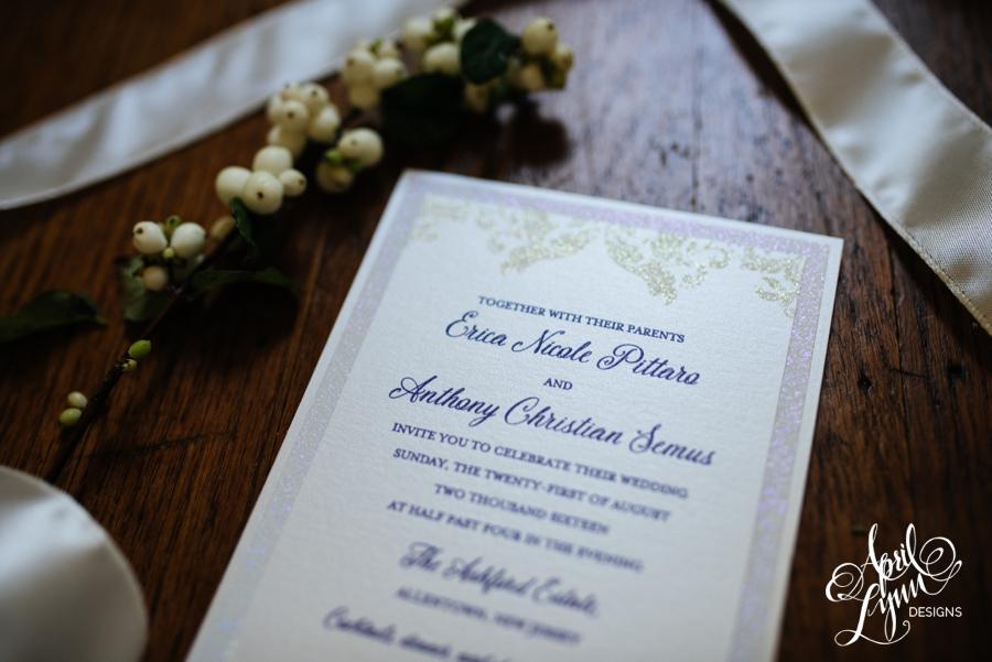 april_lynn_designs_erica_anthony_ashford_estate_wedding_allentown_new_jersey_luxe_glitter_purple_clutch_wedding_invitation_3