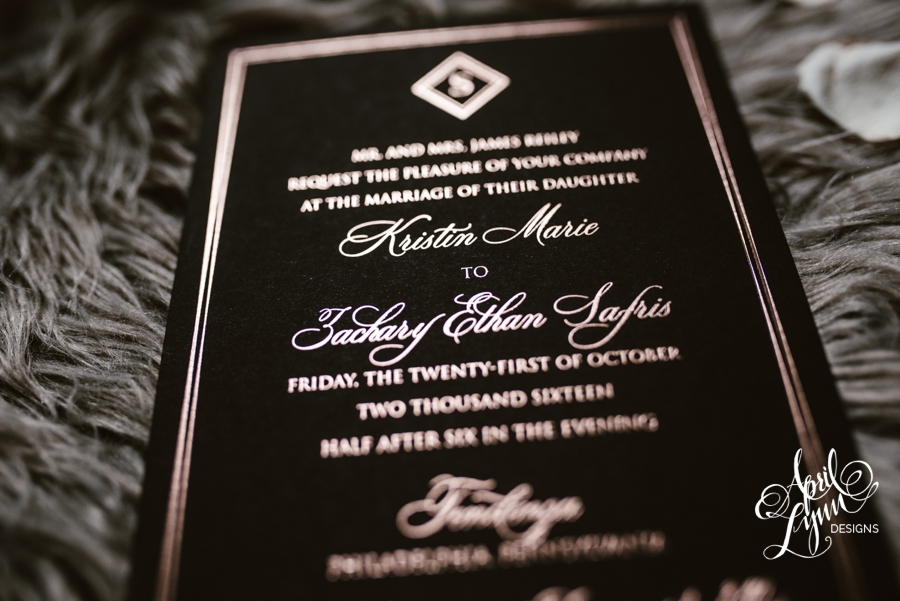 april_lynn_designs_kristin_zach_rose_gold_foil_wedding_invitation_philadelphia_tendenza_cescaphe