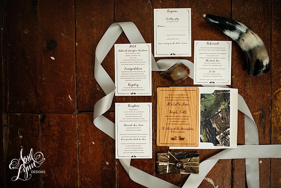 april_lynn_designs_michelle_scott_camo_wooden_wedding_invitation_rustic_delaware_wedding_thousand_acre_farm3