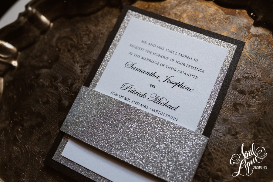 silver glitter modern and traditional wedding invitation suite - Modern Wedding Invites