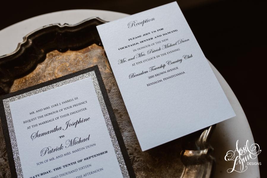When Do You Order Wedding Invitations: Samantha + Patrick's Modern Traditional Wedding Invitation